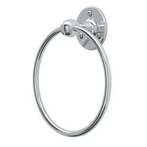 Café Chrome Towel Ring
