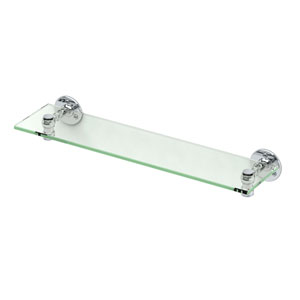 Café Chrome Glass Shelf