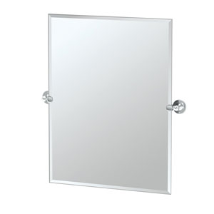 Café Chrome Rectangular Beveled Pivot Mirror