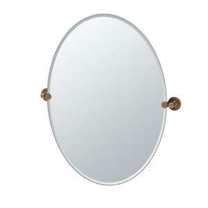 Cafe Bronze Large Oval Mirror