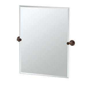 Café Bronze Rectangular Beveled Pivot Mirror