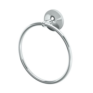 Dove Chrome Towel Ring