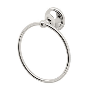 Laurel Ave. Polished Nickel Towel Ring