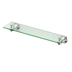 Laurel Ave. Polished Nickel Glass Shelf