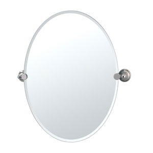 Laurel Ave. Polished Nickel Tilting Oval Mirror