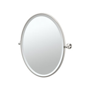 Laurel Ave Polished Nickel Framed Oval Mirror