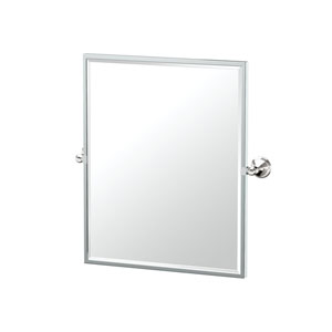 Laurel Ave Framed Small Rectangle Mirror Chrome