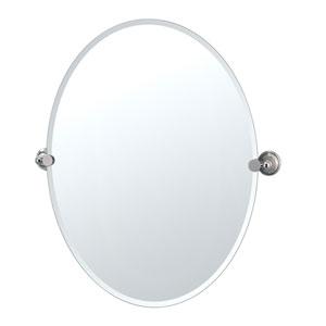 Laurel Ave. Polished Nickel Large Tilting Oval Mirror