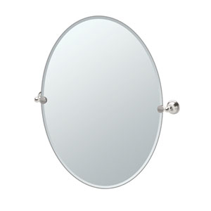 Laurel Ave. Satin Nickel Large Tilting Oval Mirror