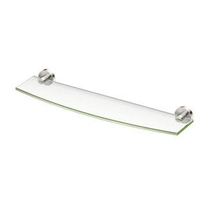 Glam Glass Shelf Satin Nickel