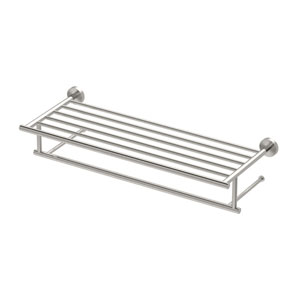 Glam Minimalist Spa Rack Satin Nickel