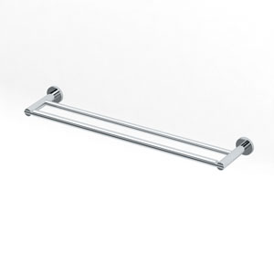 Channel Chrome 24 Inch Double Towel Bar