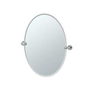 Channel Chrome Tilting Oval Mirror
