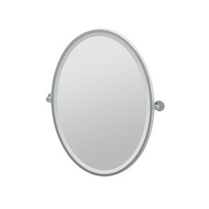 Channel Chrome Framed Oval Mirror