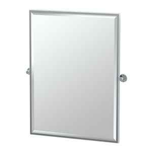 Channel Chrome Framed Large Rectangle Mirror