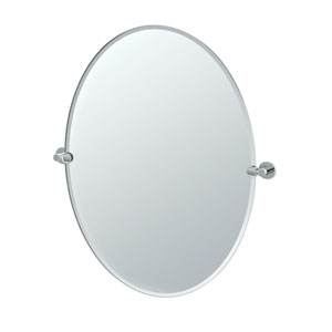 Channel Chrome Large Tilting Oval Mirror