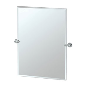Channel Chrome Tilting Rectangular Mirror