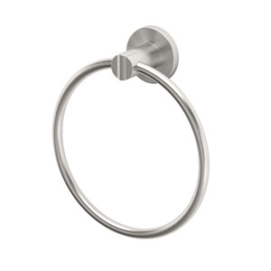 Channel Satin Nickel Towel Ring