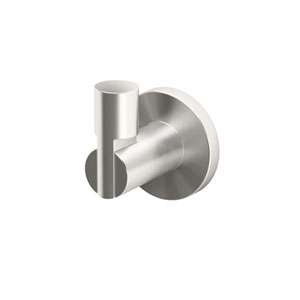 Channel Satin Nickel Robe Hook