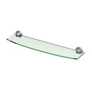 Channel Satin Nickel Glass Shelf