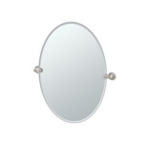 Channel Satin Nickel Tilting Oval Mirror