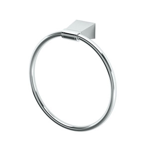 Bleu Chrome Towel Ring