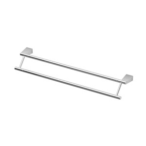 Bleu Chrome 24 Inch Double Towel Bar