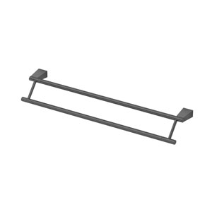 Bleu Matte Black 24-Inch Double Towel Bar
