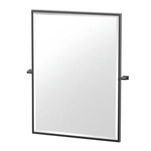Bleu 32.5-Inch Framed Rectangle Mirror Matte Black