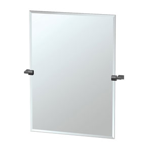 Bleu Large Rectangle Mirror Matte Black