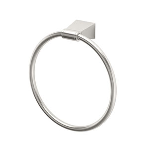 Bleu Satin Nickel Towel Ring