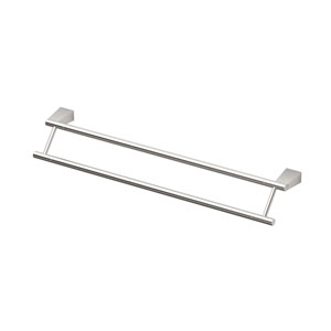 Bleu Satin Nickel 24 Inch Double Towel Bar