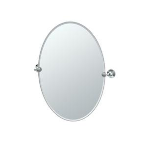 Max Chrome Oval Mirror