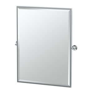 Max Chrome Framed Large Rectangle Mirror