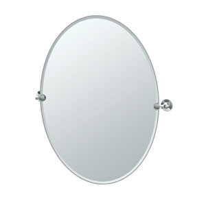 Max Chrome Large Oval Mirror