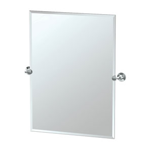 MAX Chrome Tilting Rectangular Mirror