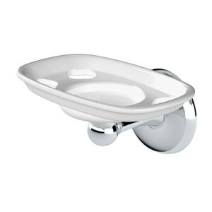 Designer II Chrome Cup & Brush Holder