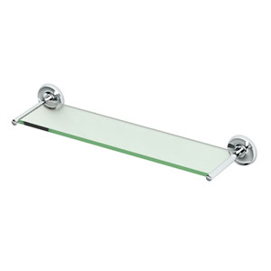 Designer II Chrome Glass Shelf
