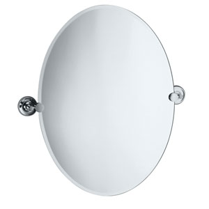 Designer II Chrome Tilting Oval Mirror