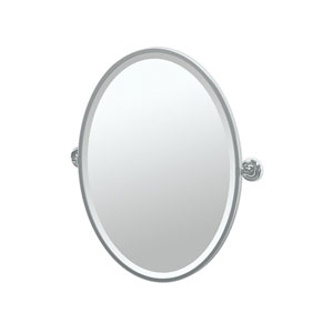 Designer II Chrome Framed Oval Mirror