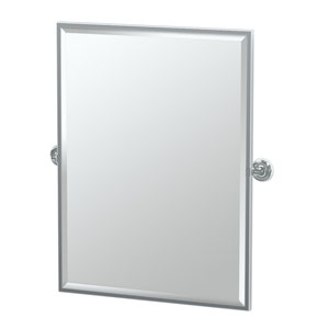 Designer II Chrome Framed Large Rectangle Mirror