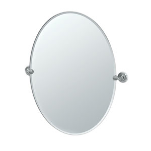 Designer II Chrome Large Oval Mirror