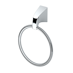 Quantra Towel Ring Chrome