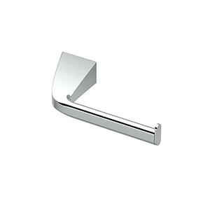Quantra Single Post Euro Style Toilet Paper Holder Chrome
