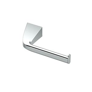 Quantra Single Post Euro Style Toilet Paper Holder Chrome