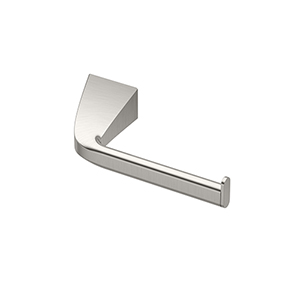 Quantra Single Post Euro Style Toilet Paper Holder Satin Nickel