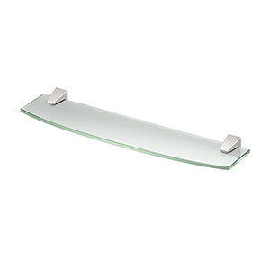 Quantra Glass Shelf Satin Nickel