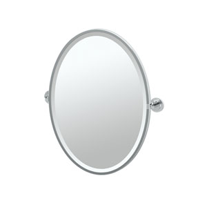 Marina Chrome Framed Oval Mirror