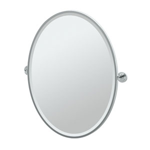 Marina Chrome Framed Large Oval Mirror