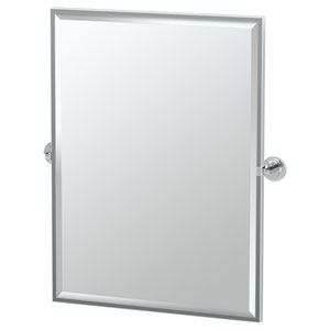 Marina Chrome Framed Large Rectangle Mirror